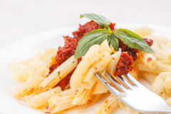 Pasta penne rigate Royalty Free Stock Photography