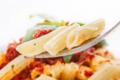 Pasta penne rigate Stock Photo
