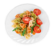 Pasta penne rigate with tomato. Stock Photos