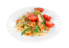 Pasta penne rigate with tomato. Stock Photography