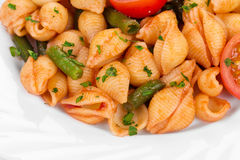 Pasta penne rigate with tomato sauce Royalty Free Stock Photography