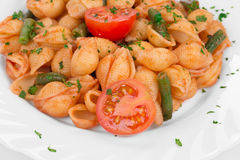 Pasta penne rigate with tomato sauce Royalty Free Stock Image