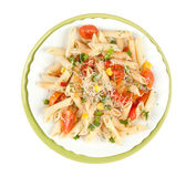 Pasta penne with vegetables Stock Photos