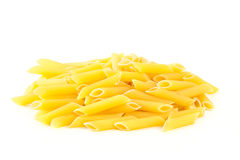 Pasta Penne  on white background. Stock Photo