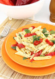 Pasta with peppers Royalty Free Stock Images