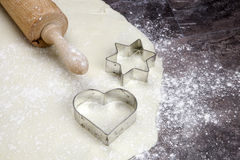 Pasta per i biscotti Fotografia Stock Libera da Diritti