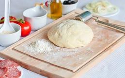 Pasta per pizza Fotografia Stock
