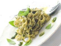 Pasta with pesto stock image