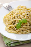 Pasta pesto Royalty Free Stock Photo