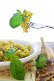 Pasta with Pesto Stock Image
