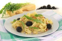 Pasta with pesto Stock Images