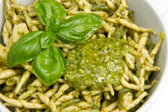 Pasta with pesto Royalty Free Stock Photo