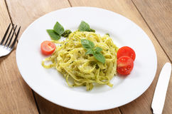 Pasta pesto Stock Image