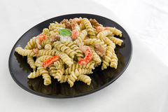 Pasta with pesto Royalty Free Stock Image