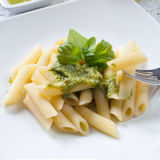 Pasta with pesto Royalty Free Stock Photography