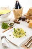 Pasta with Pesto alla genovese Stock Image