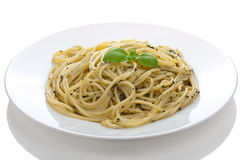 Pasta pesto isolated Royalty Free Stock Images