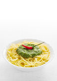 Pasta with pesto Royalty Free Stock Image