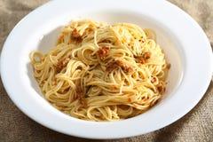 Pasta and pesto sauce Stock Photography