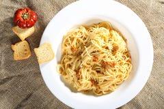 Pasta and pesto sauce Stock Photo