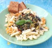 Pasta and pesto Stock Photo
