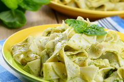 Pasta pesto Stock Photo