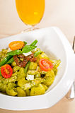 Pasta pesto and vegetables Royalty Free Stock Photos