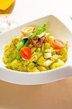Pasta pesto and vegetables Royalty Free Stock Photo