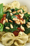 Pasta With Pine Nuts 3 Stock Photo