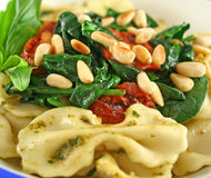 Pasta With Pine Nuts 4 Royalty Free Stock Photography
