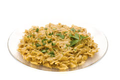 Pasta plate Royalty Free Stock Photo