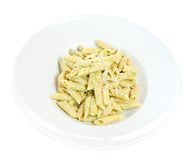 Pasta in plate Stock Images