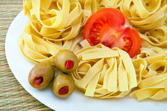 Pasta on a plate Royalty Free Stock Images