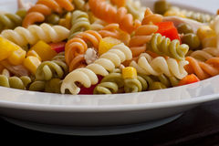 Pasta plate Stock Image