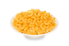 Pasta. Pasta in a plate closeup isolated on white background Stock Photography