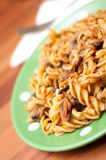 Pasta plate Stock Images