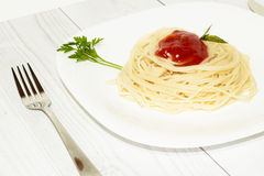 Pasta on the plate Royalty Free Stock Photography