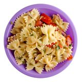 Pasta on a plate Stock Photography