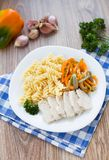 Pasta on plate Royalty Free Stock Image