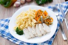 Pasta on plate Stock Photo