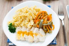 Pasta on plate Stock Photography