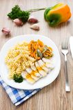 Pasta on plate Royalty Free Stock Images