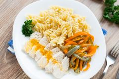 Pasta on plate Stock Image