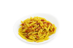 Pasta on plate. Stock Photography