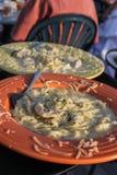Pasta plates Royalty Free Stock Image