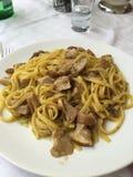 Pasta with porcini mushrooms Royalty Free Stock Photos