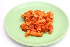 Pasta with pork Royalty Free Stock Images