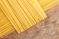 Pasta posted on the a row Royalty Free Stock Photography