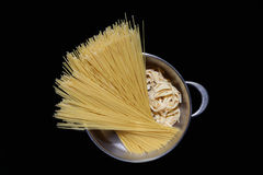 Pasta in the pot Royalty Free Stock Photos