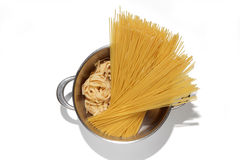Pasta in the pot Royalty Free Stock Images
